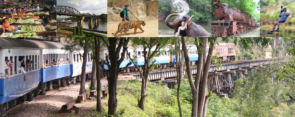 Floating Markets Tiger Safari Park Bridge Hell Fire Pass