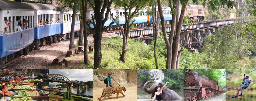 Tiger Safari park, Elephants, Floating Market and Death Railway Hellfire pass