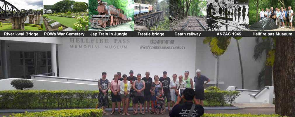 1 Day Historical Tour From Bangkok to Hellfire pass Museum Death railway Bridge on the river kwai