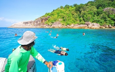 Snorkeling in Blue Waters