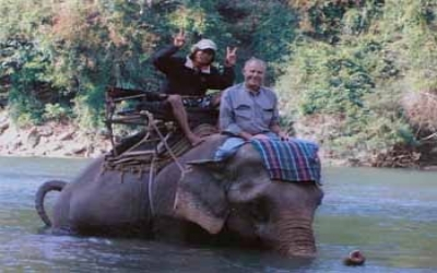 Elephants riding