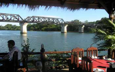 Bridge on the river kwai from restaurant