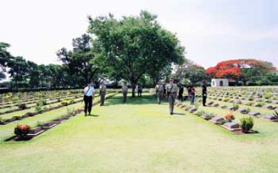War graves for POW Death railway