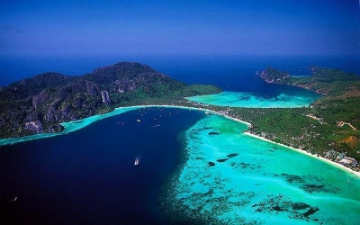 Aerial view of Phi Phi