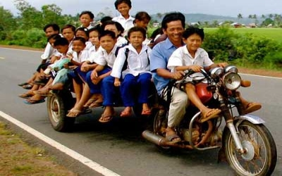 Cambodian School bus