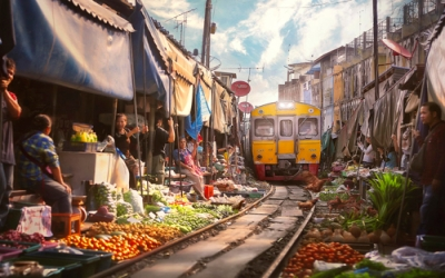 The Famous Train Market