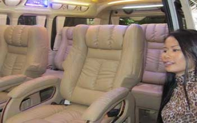 Limo van with captain chairs