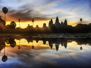 Magical sunrise over Angkor Wat